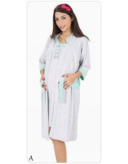 Комплект халат с сорочкой - фото 5088