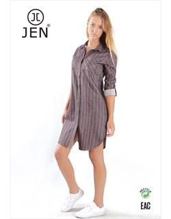Платье-рубашка фланель - фото 6500