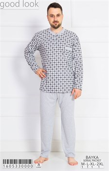 Пижама мужская байка - фото 6737