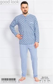 Пижама мужская байка - фото 6739