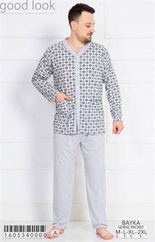 Пижама мужская байка - фото 6741