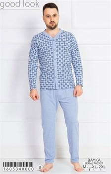 Пижама мужская байка - фото 6747