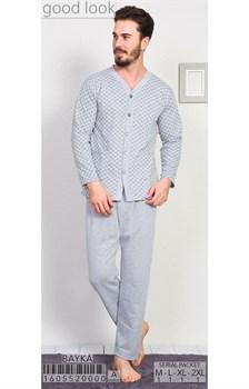Пижама мужская байка - фото 6809