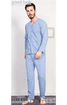 Пижама мужская байка - фото 6811