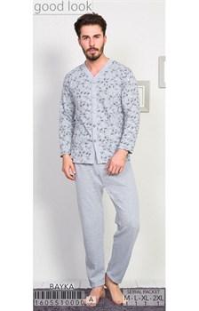 Пижама мужская байка - фото 6815