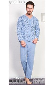Пижама мужская байка - фото 6817
