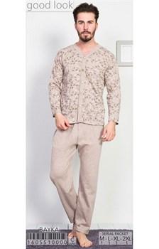 Пижама мужская байка - фото 6819