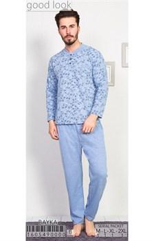 Пижама мужская байка - фото 6823