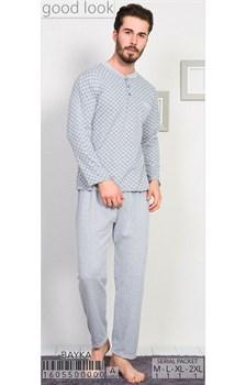 Пижама мужская байка - фото 6827