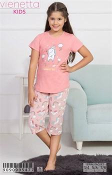 Комплект детский футболка капри - фото 6899
