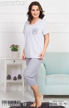 Комплект футболка капри - фото 6936