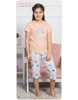Комплект детский футболка капри DREAM - фото 6977