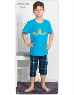 Комплект подростковый футболка с капри - фото 6979