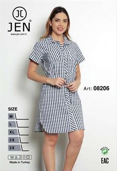 Платье-рубашка - фото 7183