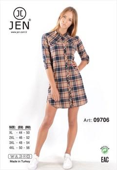 Платье-рубашка фланель - фото 7378