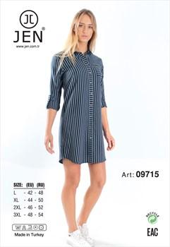 Платье-рубашка фланель - фото 7385