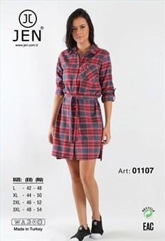 Платье-рубашка фланель - фото 7634