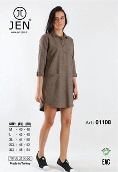 Туника-рубашка фланель - фото 7835