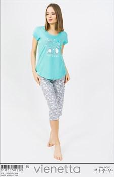Комплект футболка капри - фото 8008