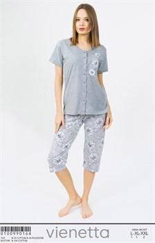 Комплект футболка капри - фото 8009