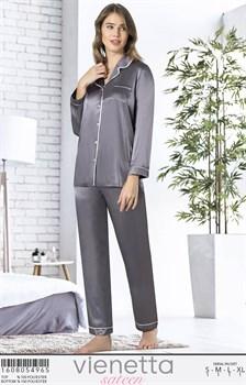 Пижама шелк sateen - фото 8021
