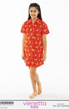 Платье-рубашка подростковое - фото 8061