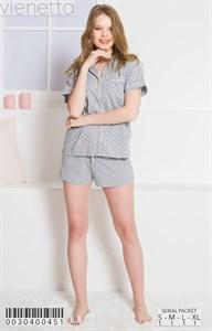 Пижамный комплект рубашка шорты